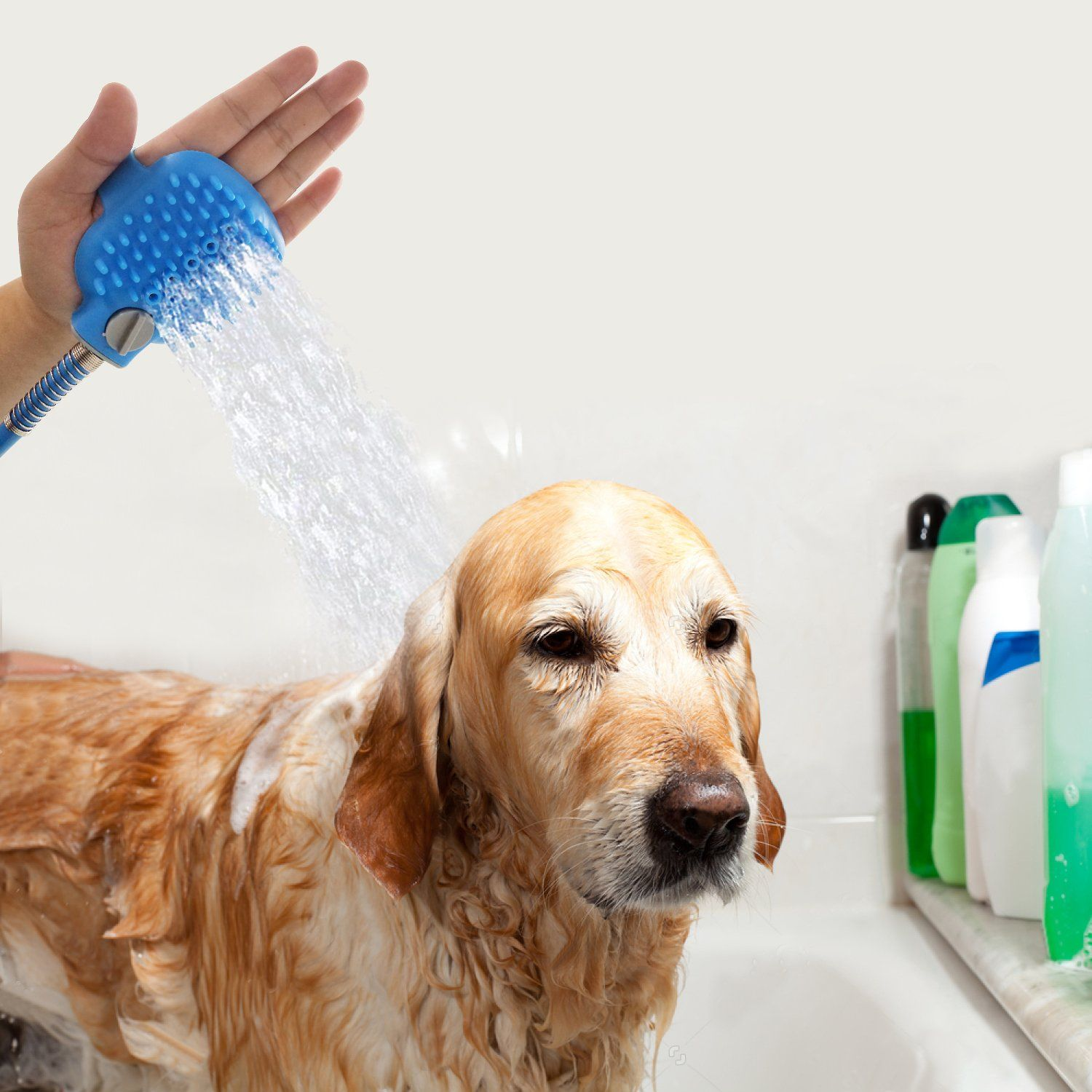 Pet Shower Tool With Nozzle Loveonetm Dog Bathing Sprayer With 3