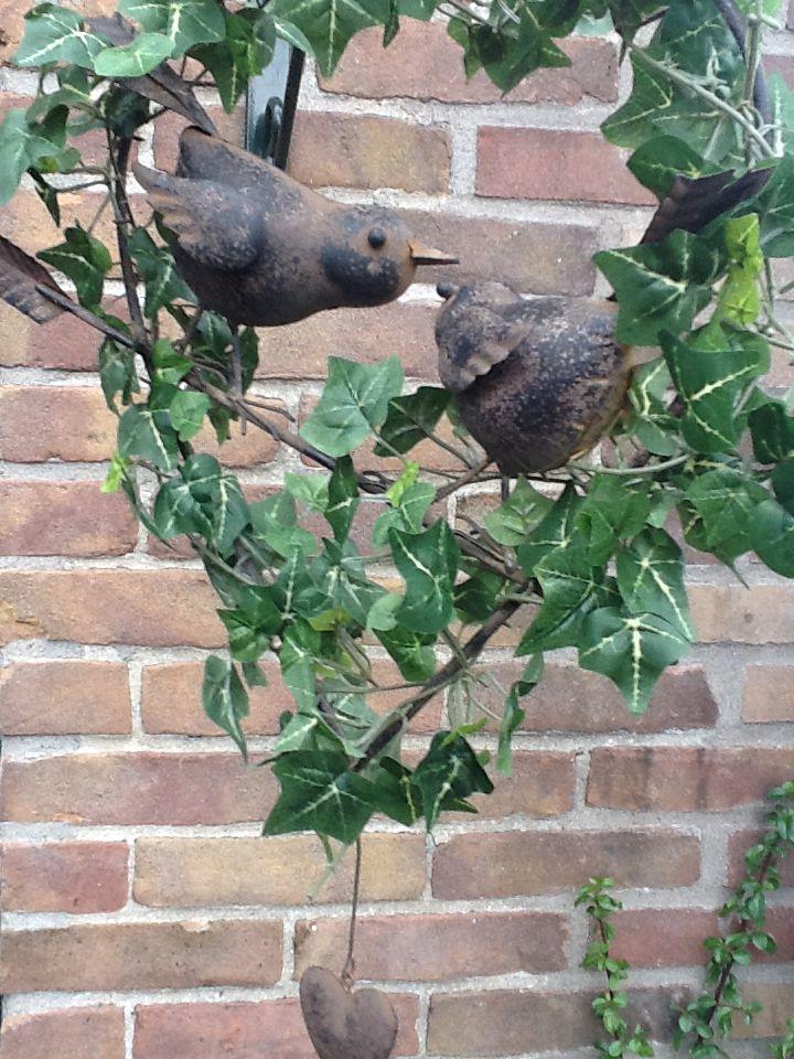 De lovebirds bij de oprit