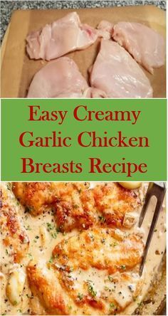 This is Easy Creamy Garlic Chicken Breasts Recipe. This recipe is quick to make it, easy and delicious. #Easy #Creamy #Garlic #Chicken #Breasts #Recipe #Easy #GarlicChicken #BreastsRecipe #EasyCreamyGarlicChickenBreastsRecipe #creamygarlicchicken