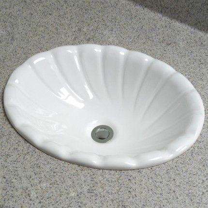 Corona Scalloped Drop In Sink Drop In Sink Drop In Bathroom