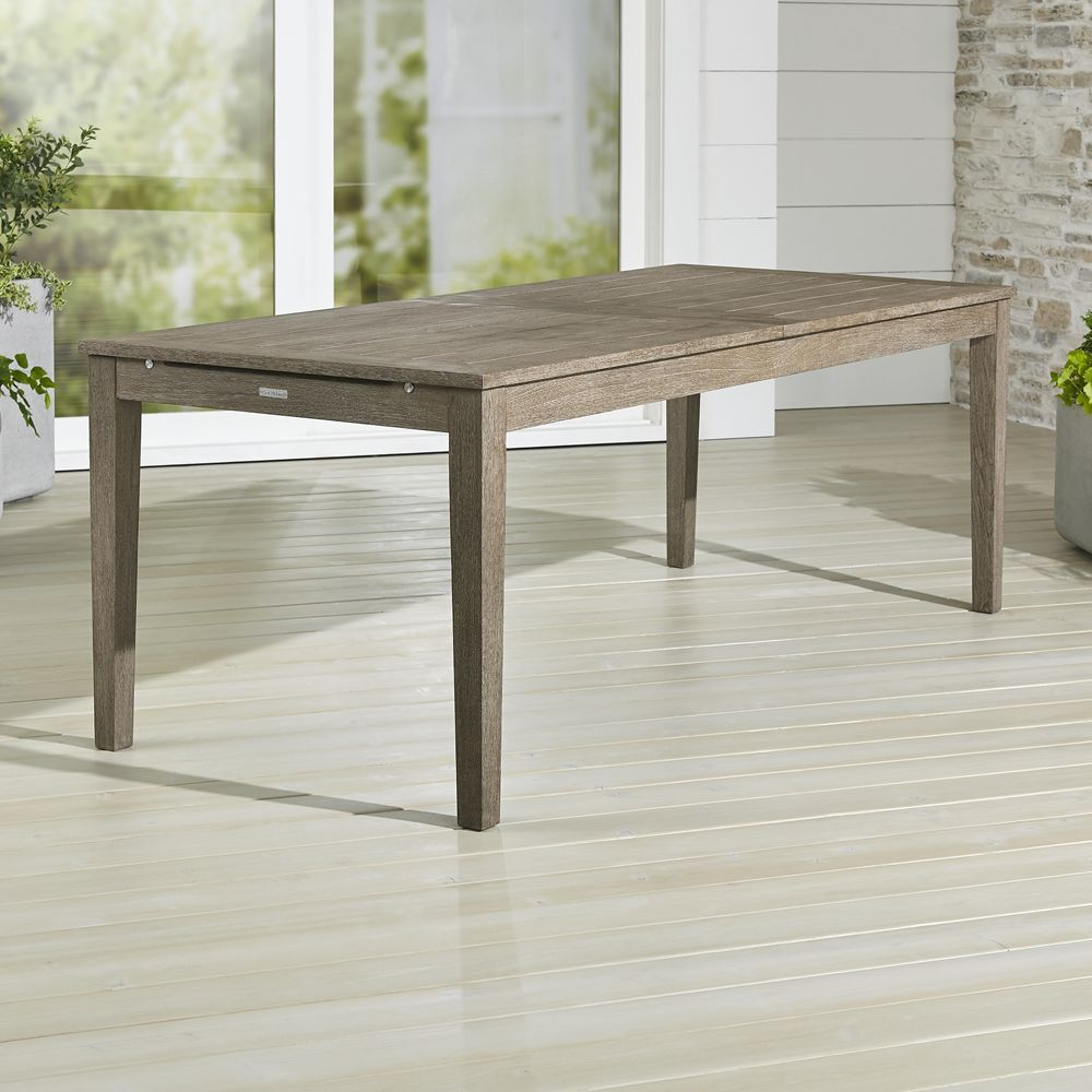 Regatta grey wash extension dining table