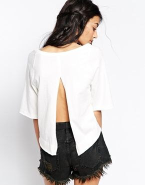 Enlarge Free People Take Me Back Top with Split Back
