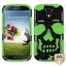 Samsung Galaxy S4 SkullCap Case - Black/Green