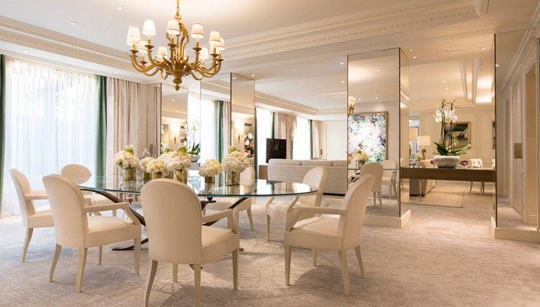 The Royal Suite Four Seasons Hotel George V Elegant Home Decor