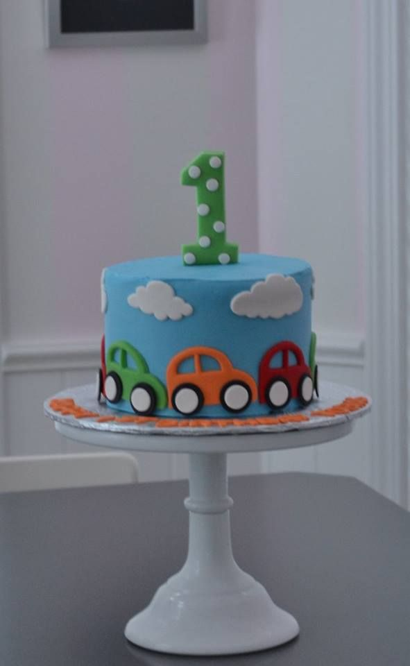 1st Birthday Cake Boy.Car Cake Little Cars Cake Smash Cake Little Boy Cake