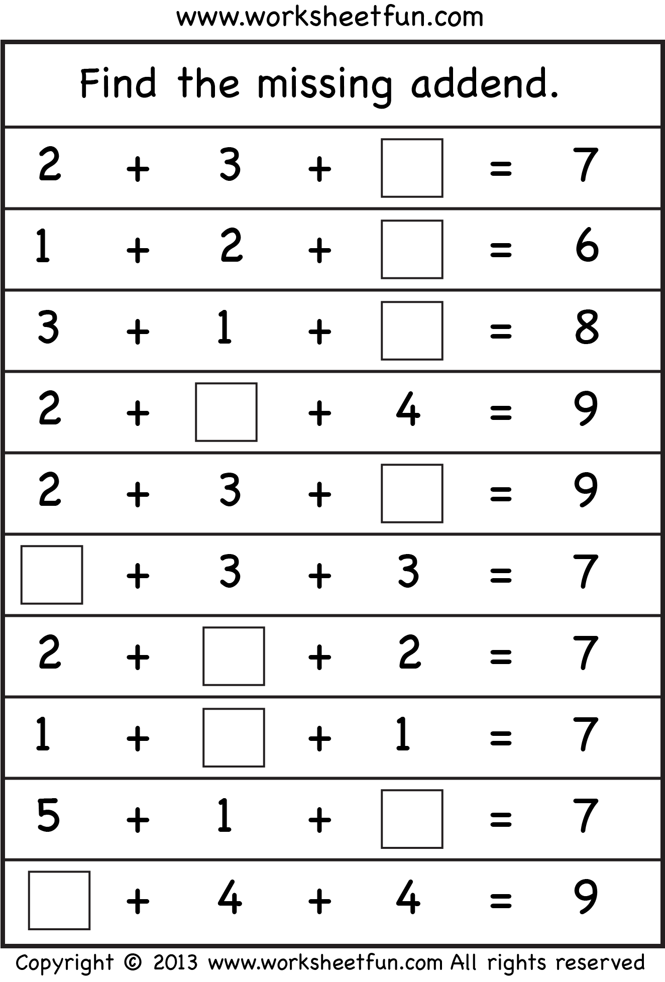 Missing Addend Level2 W1 Png 1324 1955 First Grade Math Worksheets First Grade Worksheets 1st Grade Math Worksheets