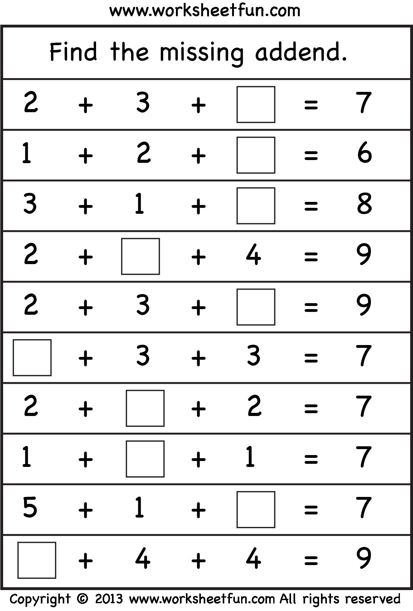 medium resolution of missing-addend-level2-W1-.png (1324×1955)   Mental maths worksheets