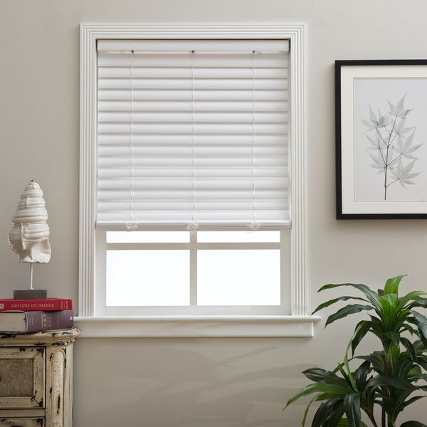 Cordless 2 Inch Fauxwood Blinds Window Treatments