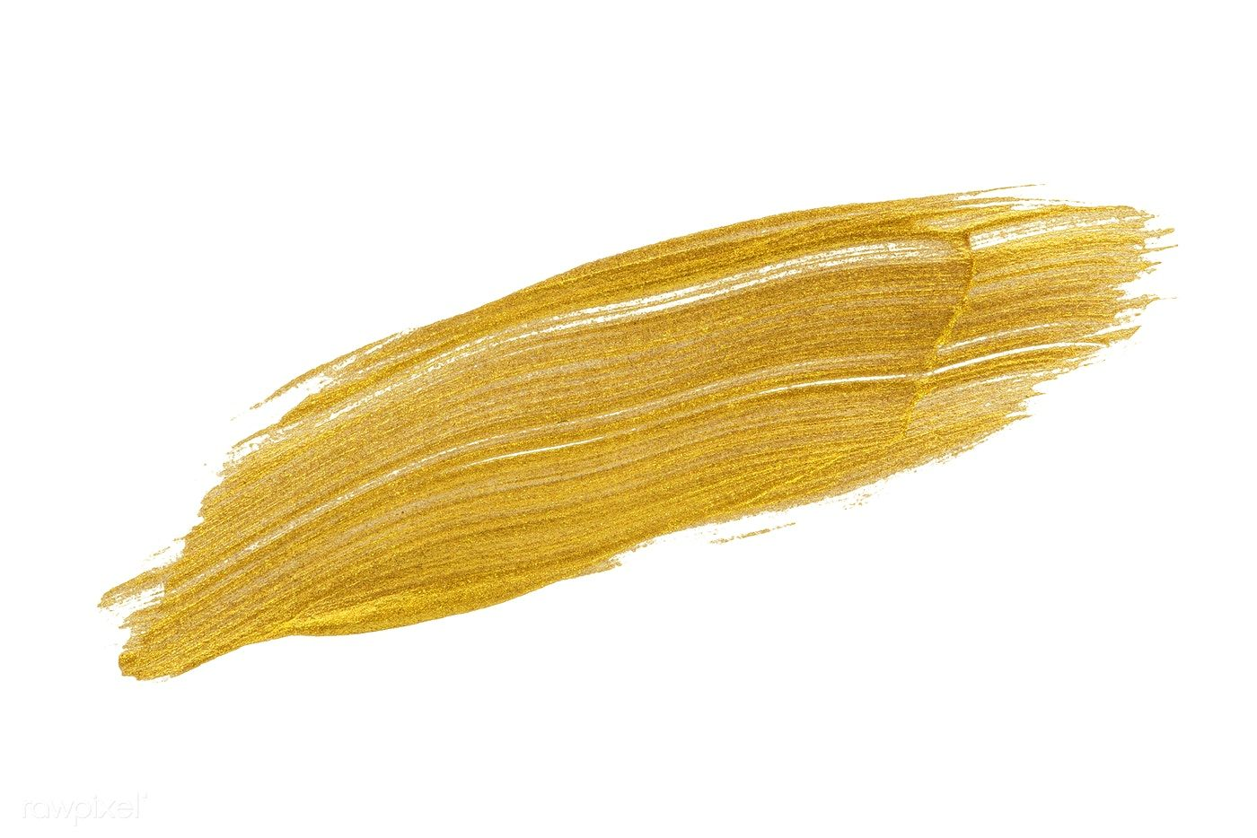 Download Premium Psd Of Festive Shimmery Golden Brush Stroke 552783 Brush Strokes Shimmery Paint Strokes