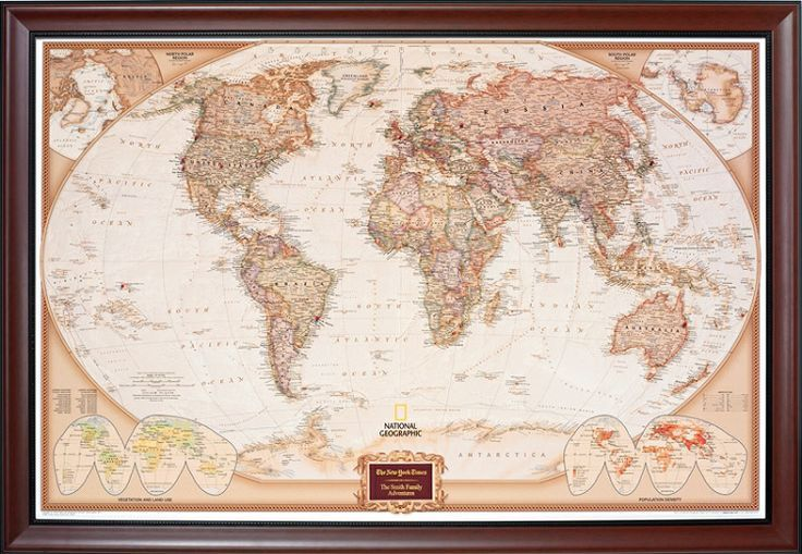 Personalized Pin Your Journeys World Map | Christmas | Framed world on