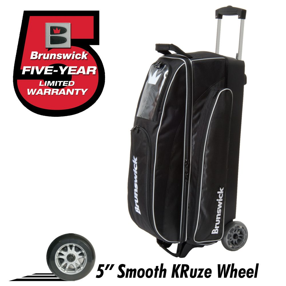 Brunswick Razor Triple Roller Black Bowling Bags Golf Bags Brunswick Bowling