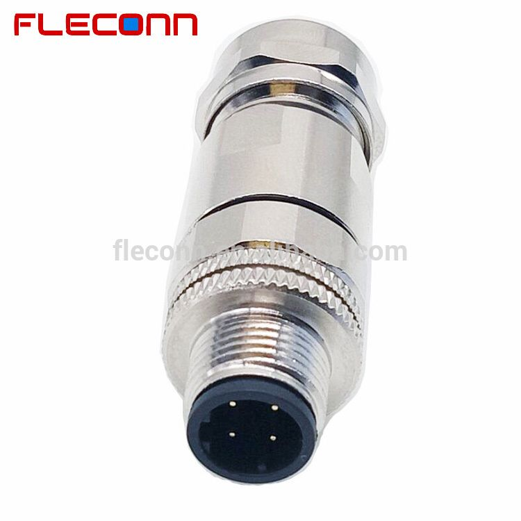 Ip67 Waterproof Metal Shell 4 Pin Male D-coded Ethernet M12 ...