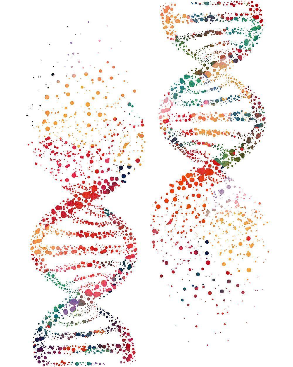 Dna Molecule Art Print Biology Art Dna Art Dna Tattoo