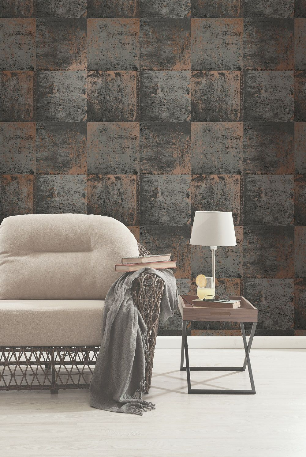 Holden Decor Metal Panel Copper Wallpaper Metallic