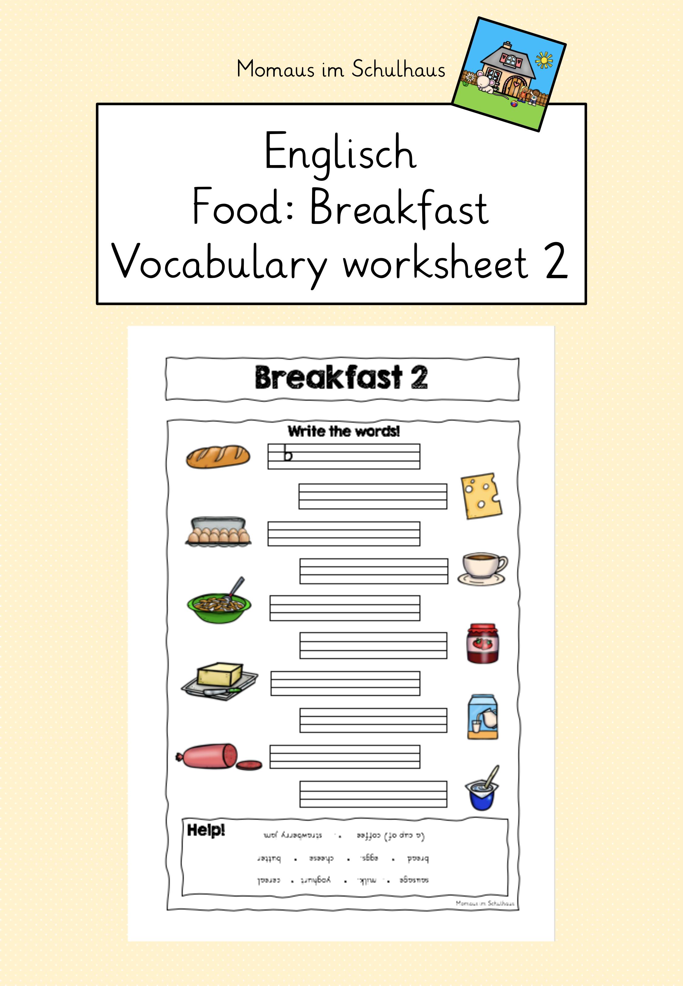 Food Breakfast Worksheet 2 Fruhstuck Arbeitsblatt