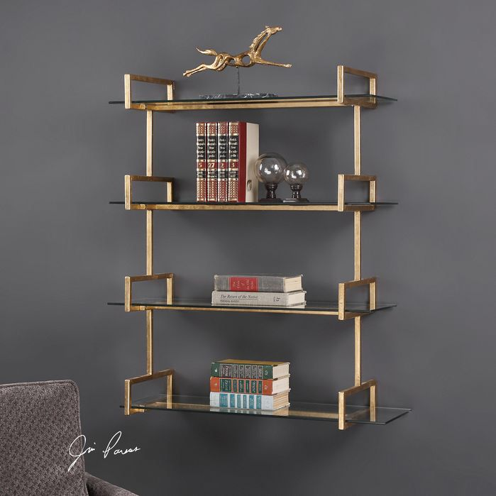 Gold Floating Shelves Entrancing Aubrey Wall Shelf  Bookshelves  Pinterest  Shelves Walls And Decorating Design