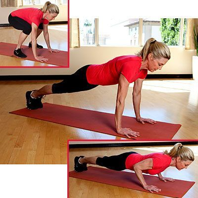 #fitness | Health.com #body #workout  Get a full body workout with our Move of the Day: Power Push-U...