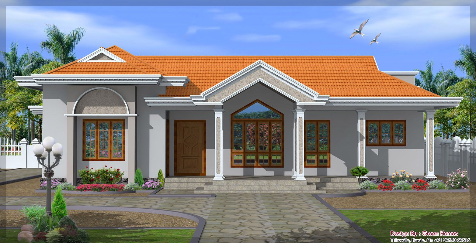 2130sqft Single Floor Home Jpg 1565 800 Kerala House Design Single Floor House Design Bungalow House Design