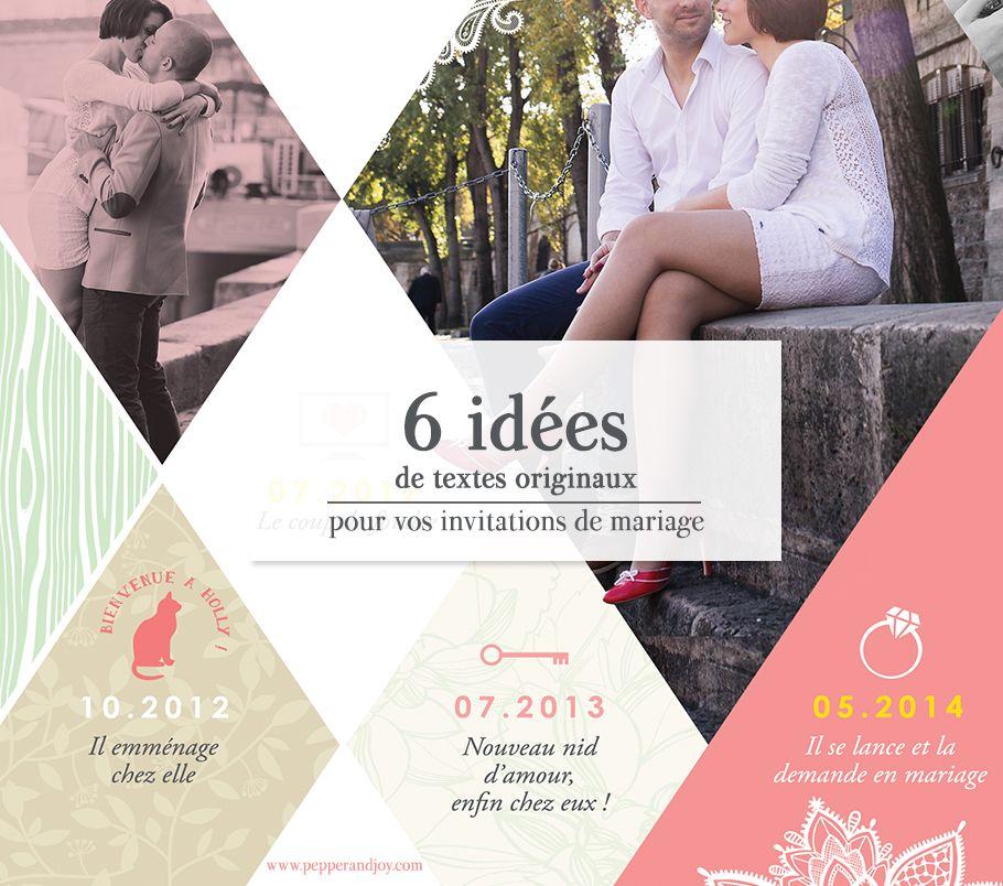 6 id es de textes originaux pour votre faire part de mariage invitation mariage originaux et. Black Bedroom Furniture Sets. Home Design Ideas