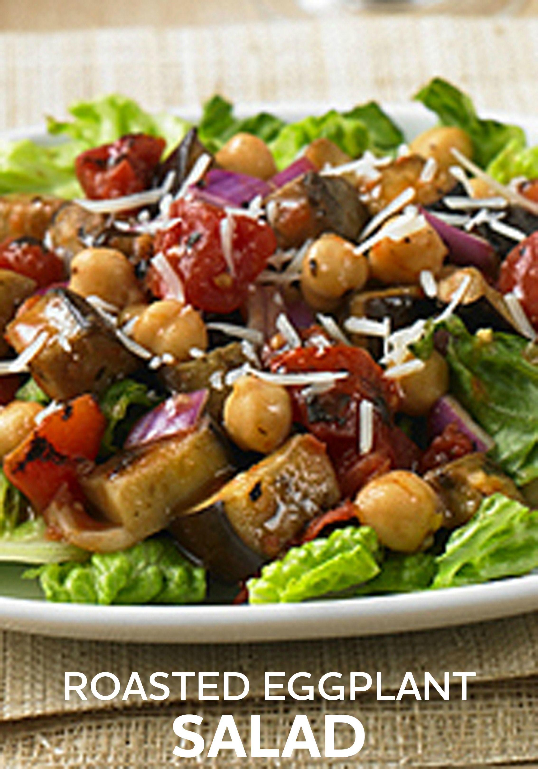 Roasted Eggplant Salad Recipe Roasted Eggplant Salad Satisfying Salads Eggplant Salad