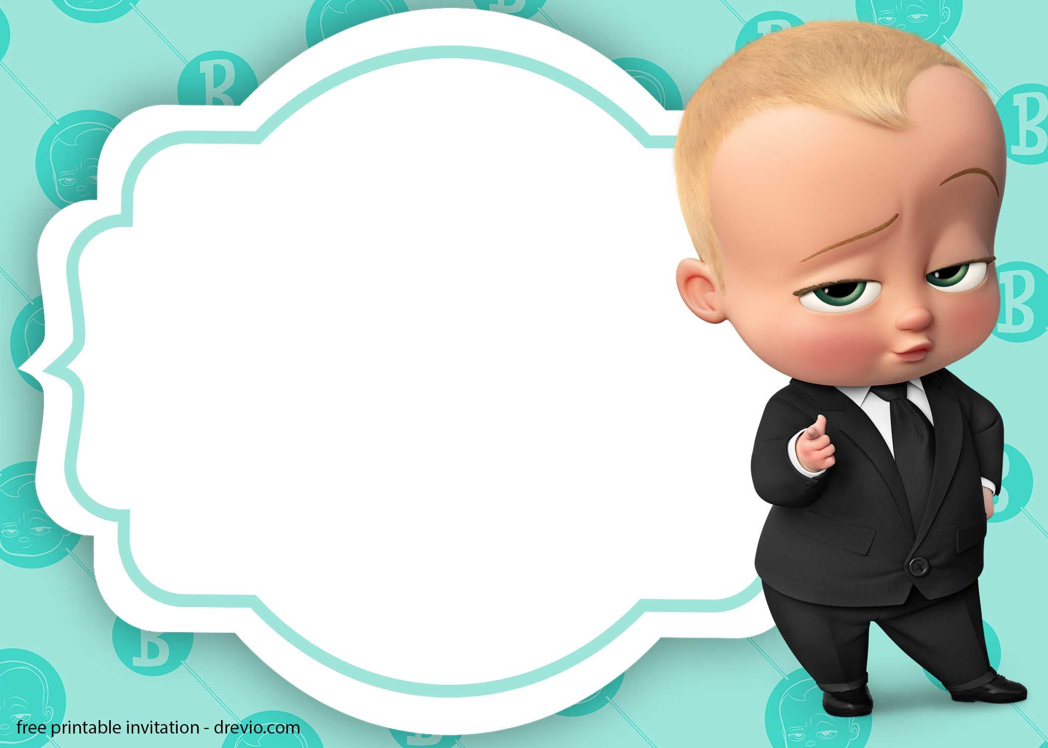 Baby Boss Invitation Template For Your Adorable Little Boss Bebe