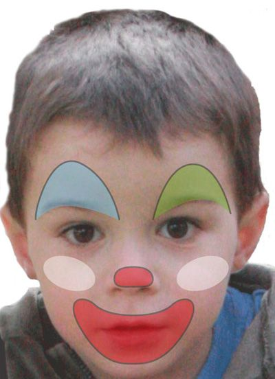 Maquillage enfant Clown , Tuto maquillage enfant , Loisirs créatifs Maquillage  Clown Facile, Maquillage Kermesse