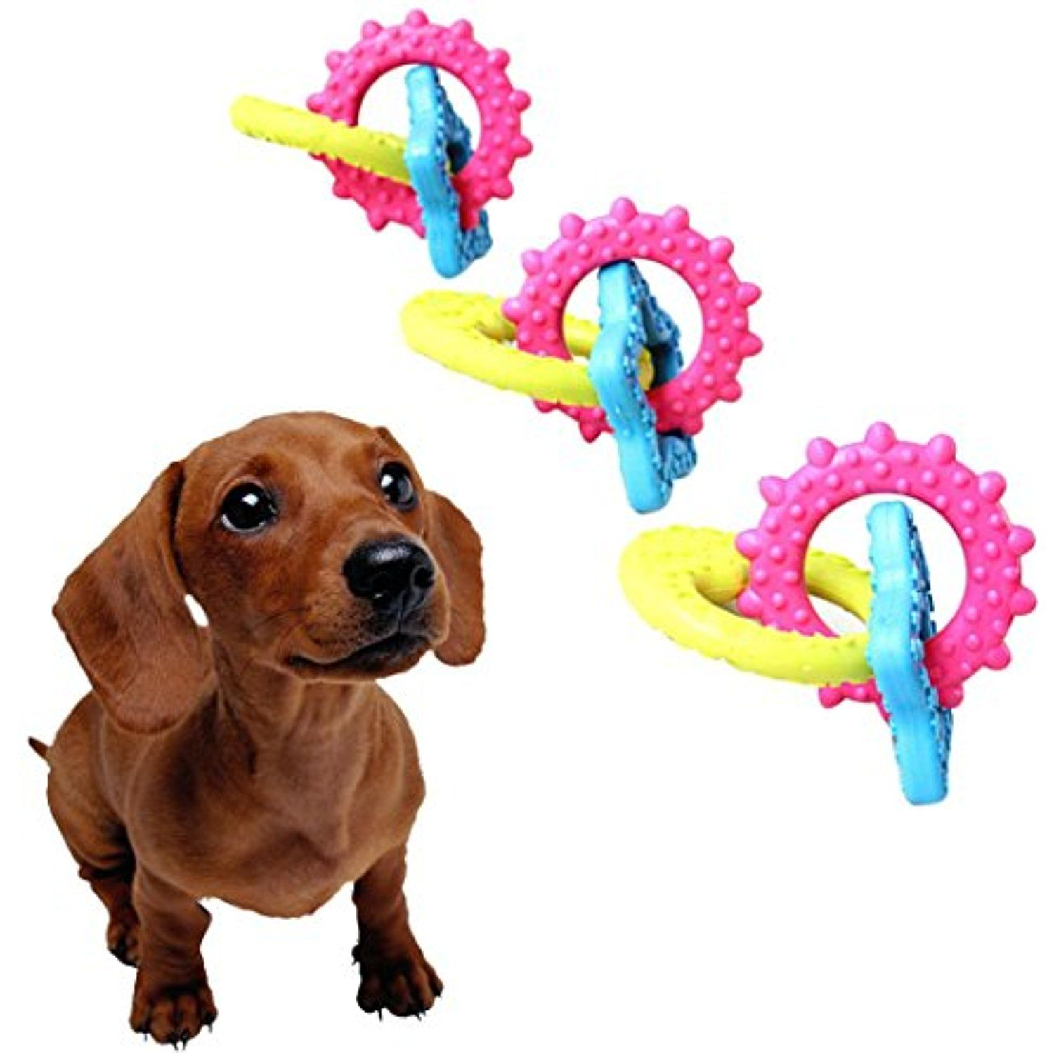 Kim88 Pet Dog Puppy Rubber Dental Teeth Chew Bone Play Training