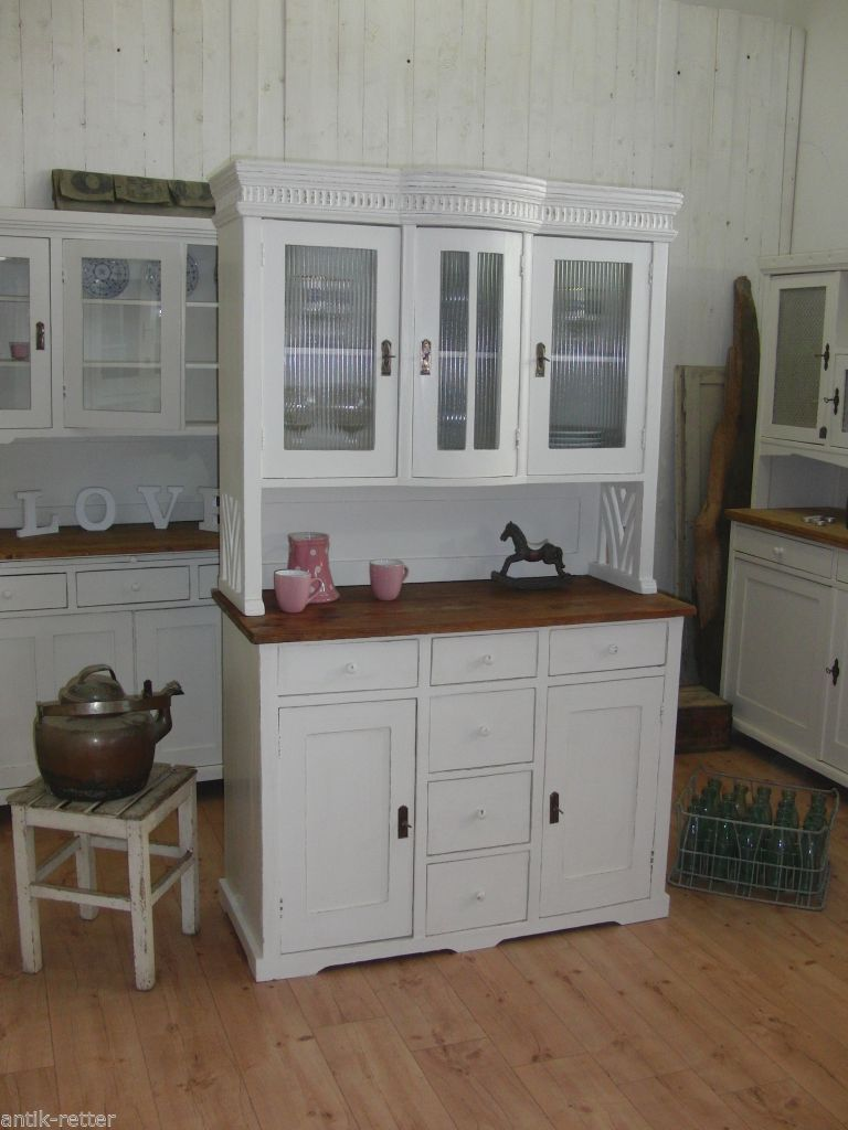 jugendstil k chenbuffet buffet anrichte vintage shabby. Black Bedroom Furniture Sets. Home Design Ideas