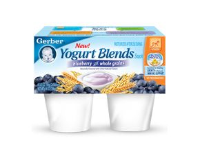 Gerber 174 Yogurt Blends Snack Blueberry With Whole Grains