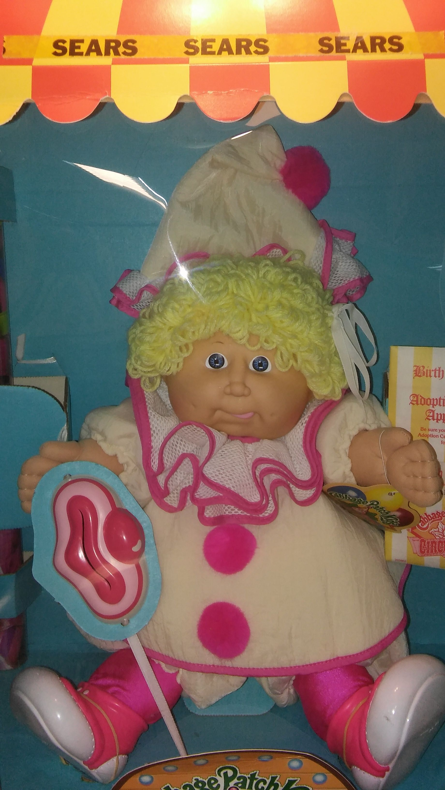 Cabbage Patch Kids Circus Kids This Is A Female Clown Named Gail Mona She Has Blonde Hair Her Tongu Cabbage Patch Kids Cabbage Patch Dolls Cabbage Patch