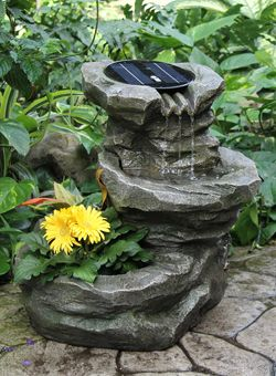 Solar Fountain   Great For The Gardens Beside The Pergola!