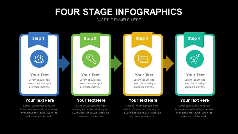 Four Stage Infographics Free Powerpoint Template Free Powerpoint