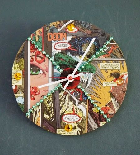 library craft ideas comic con clock diy via library arts teen programming 2345
