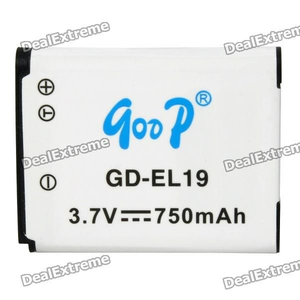 GOOD Replacement GD-EL19 3.7V 750mAh Battery Pack for Nikon S2500 / S3100 / S4100