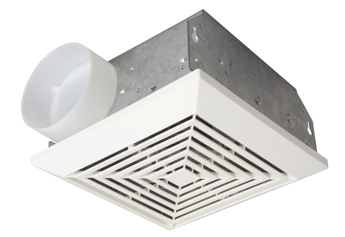 Craftmade TFV70 70 CFM Ventilation Fan with Duct Housing from the Ventilation Co White Fans Exhaust Fan Bathroom
