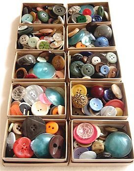 Every button, buckle, zipper, fastener of every kind was taken off an kept when clothes were banished to the rag or quilt bag.