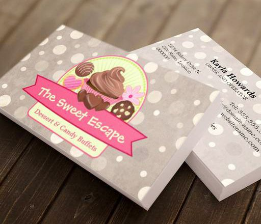 Sweet Desserts Business Cards This Great Business Card Design Is