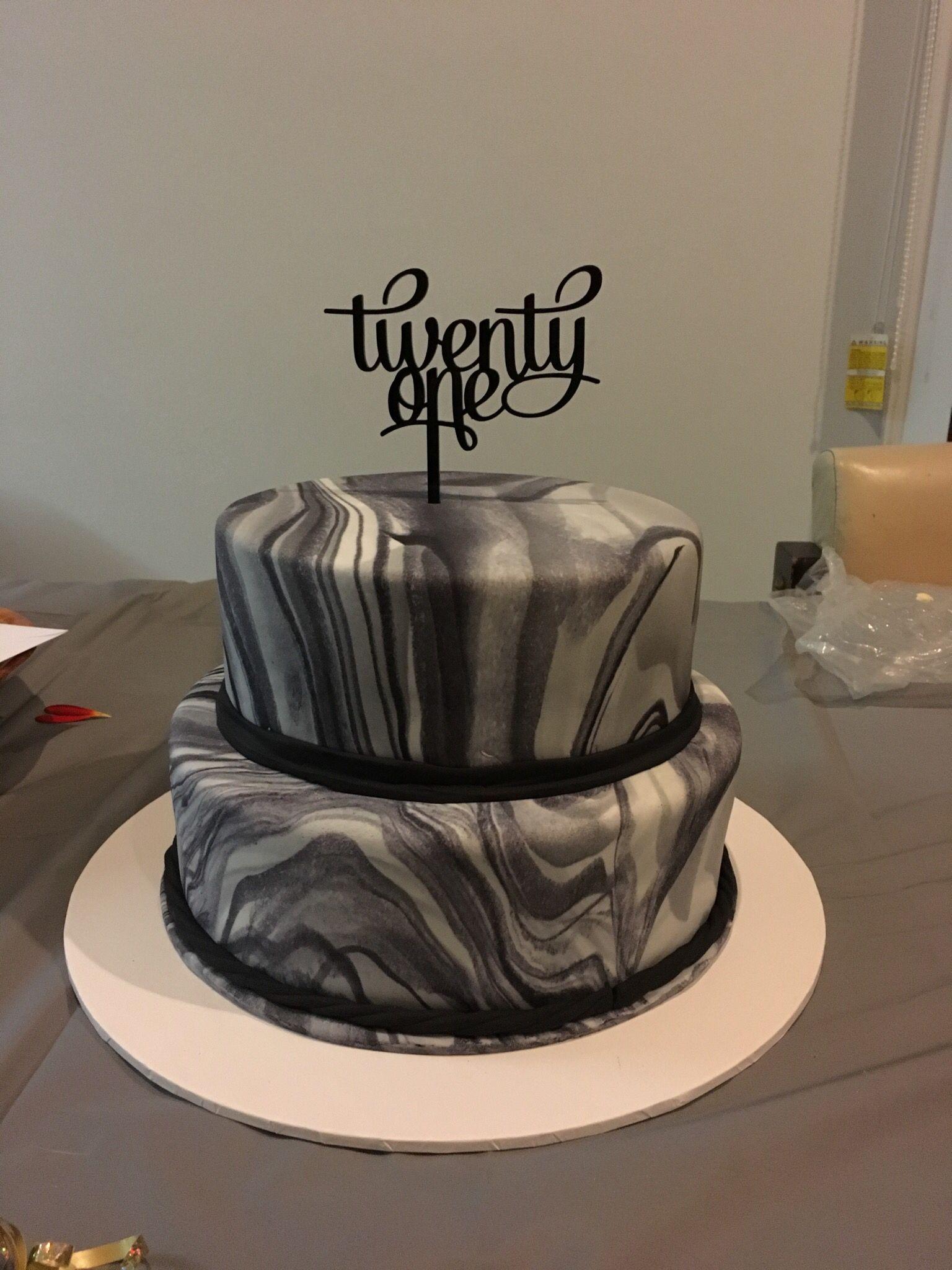 Chocolate Mud Cake With Marble Fondant 21st Birthday Jagmum Cake
