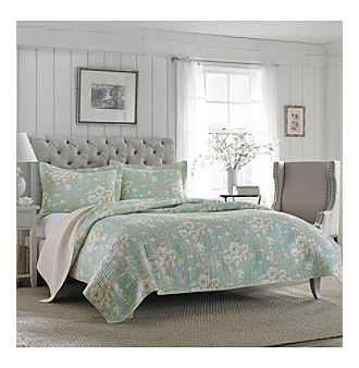 Laura Ashley® Brompton Quilt and Sham Set