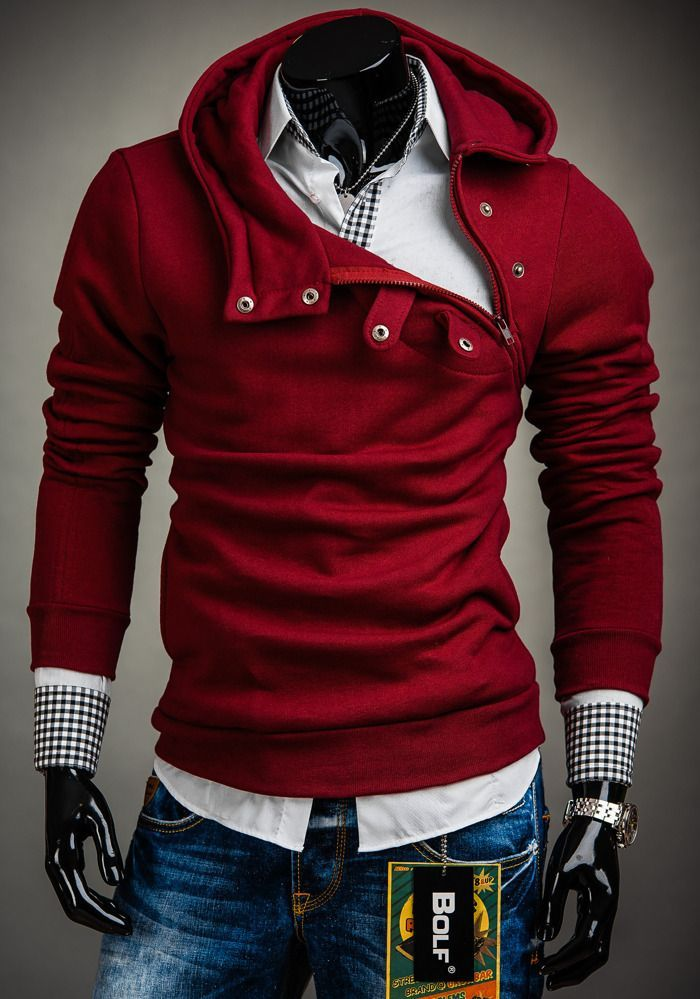 Polish Maroon Bolf Hoodie for Men | Clothes