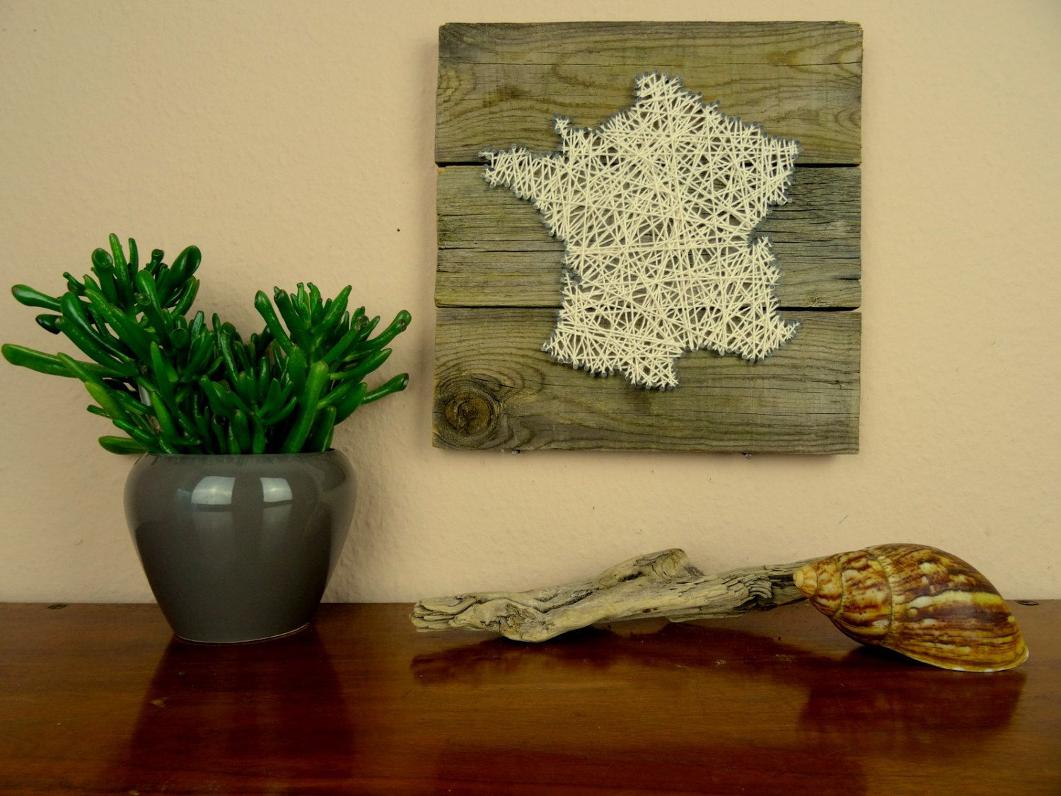 France Map | String Art | Rustic Home Decor | French Country Decor ...