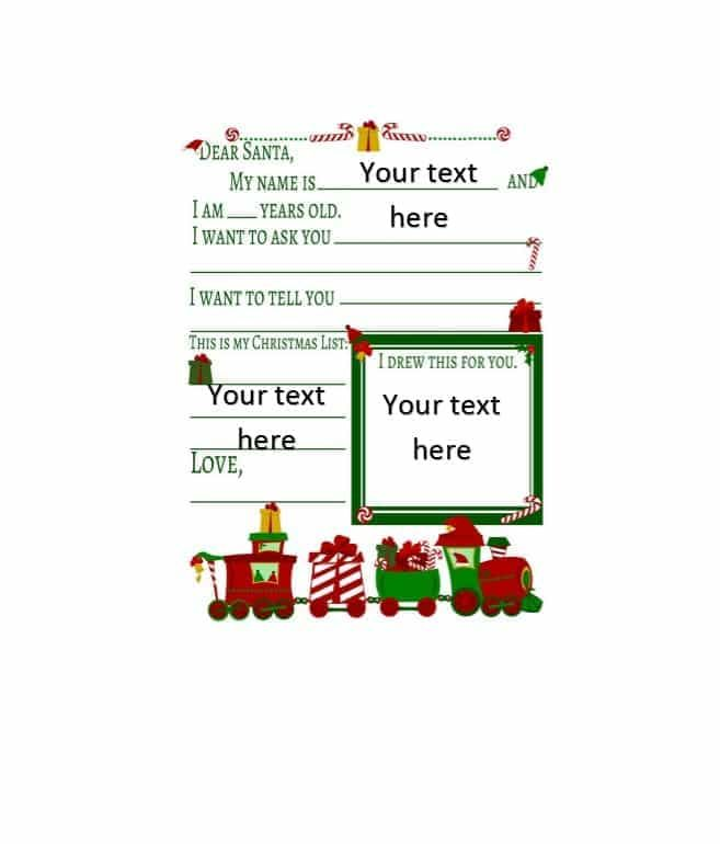 Christmas Template For Word 10 Christmas Wish List Templates  Free Printable Word & Pdf .