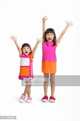 Stock Photo : Happy Little Sisters