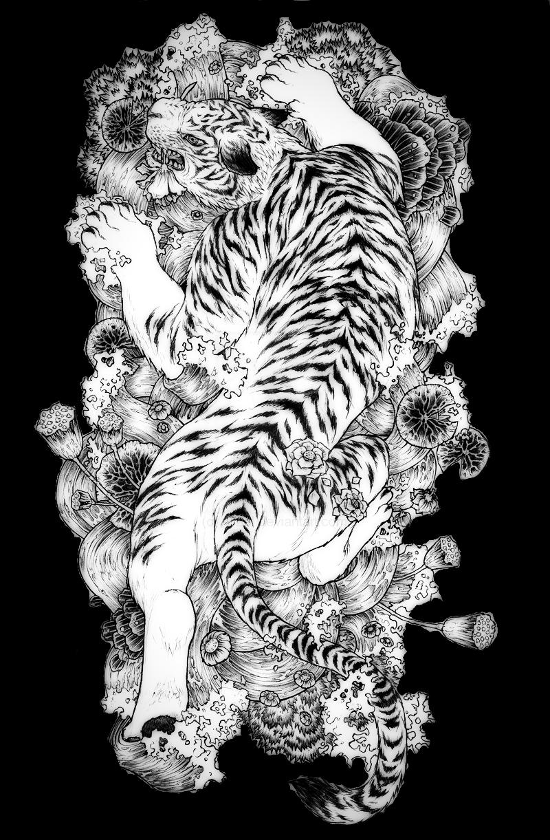 Buenas Noches Linces Y Lincesitas De La Republica Del Congo Yo Desde Hace 1 Ano Veo One Piece Y Me Tiger Tattoo Design White Tiger Tattoo Japanese Tiger Tattoo