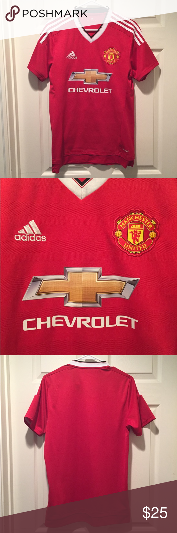 Manchester United Soccer Jersey Manchester United Jersey Chevrolet Sponsor Logo Great Condition There Was Soccer Jersey Manchester United Soccer The Unit