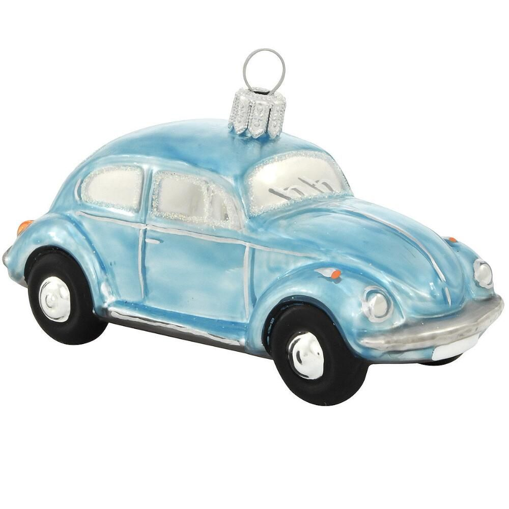 Blue Vw Beetle Gl Ornament Christmas New Year Winter