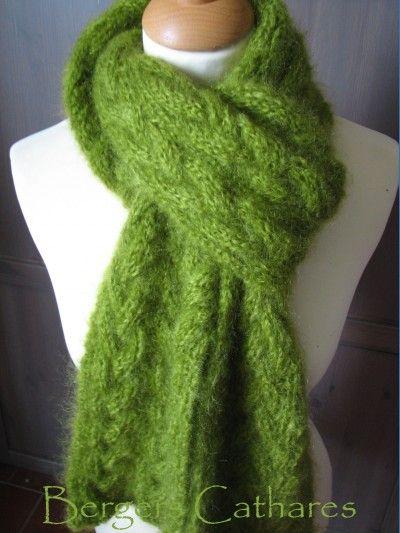 e3f5d91be0a modèle tricot echarpe mohair