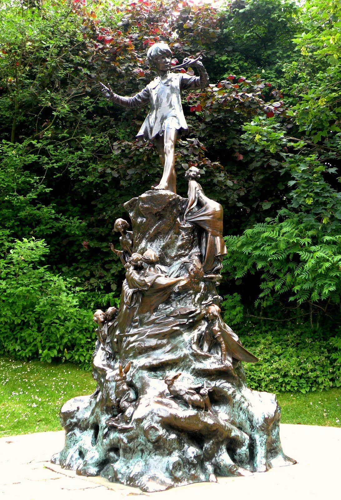 Original Peter Pan Statue In Kensington Gardens London