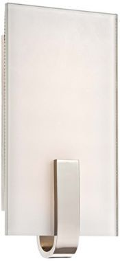 Nickel with White 6-Inch-W LED George Kovacs Wall Sconce - #EU2H494 - Euro Style Lighting