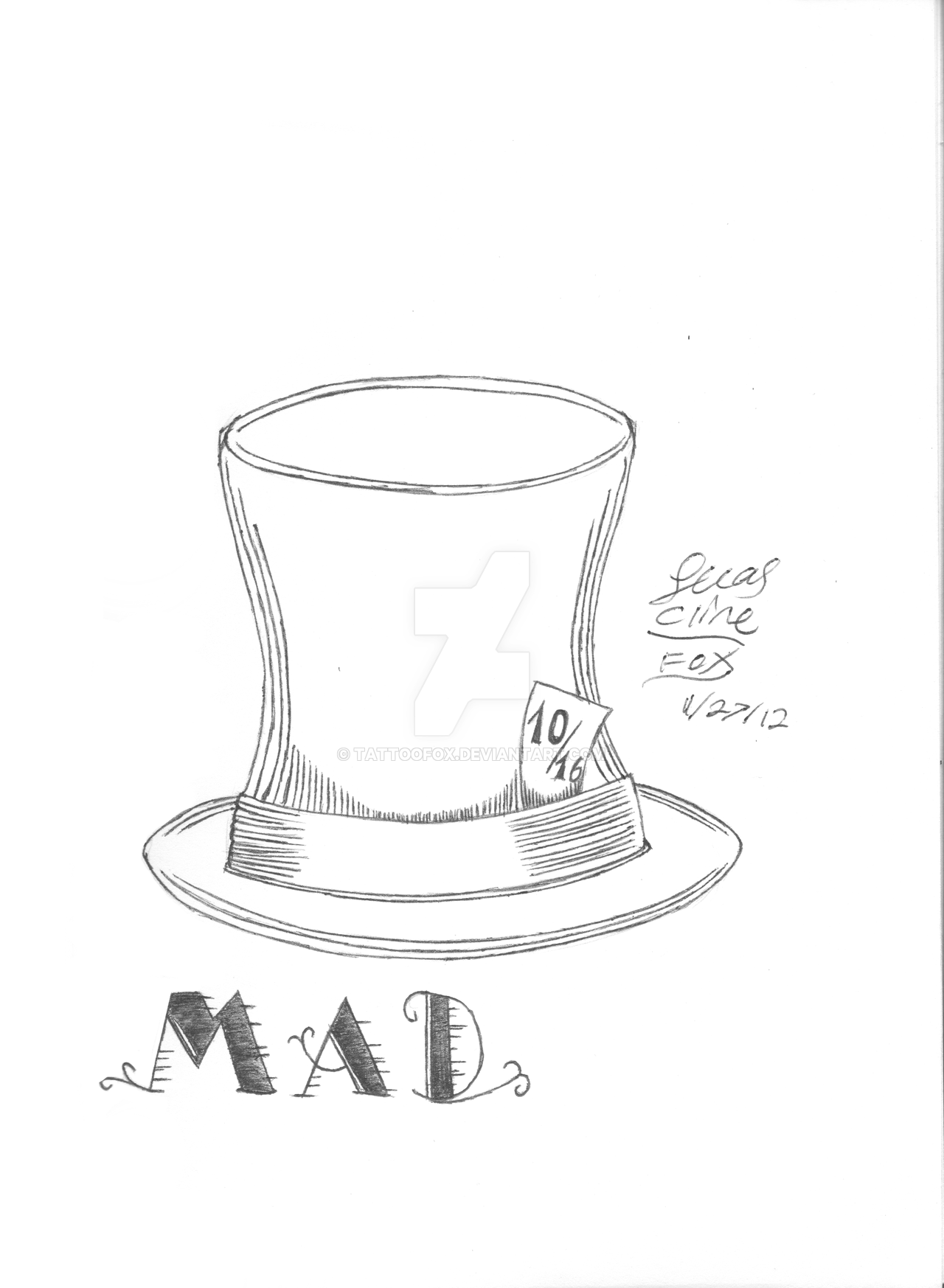 Mad Hatter Top Hat Template Topsimages